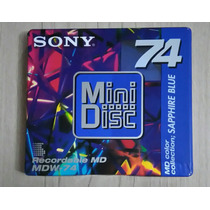 Mini Disc Md Sony 74 Color Collection - Sapphire Blue