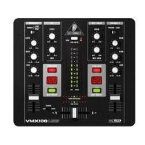 Mesa De Som Mixer Dj Pro 2 Canais 3d Surround Usb Vmx100usb