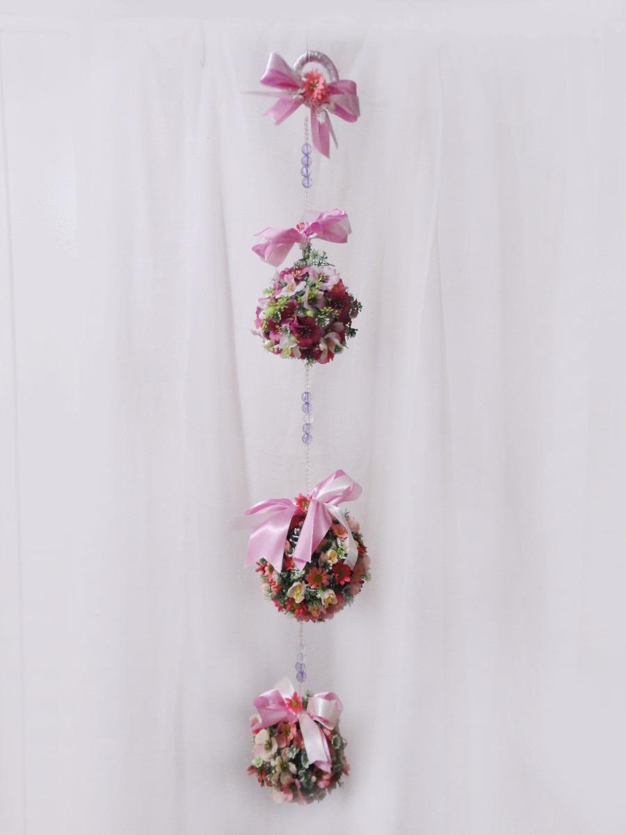 Enfeite De Cortina ~ Móbile Floral Topiaria Enfeite Para Porta, Cortina E Teto R$ 120,00 no MercadoLivre