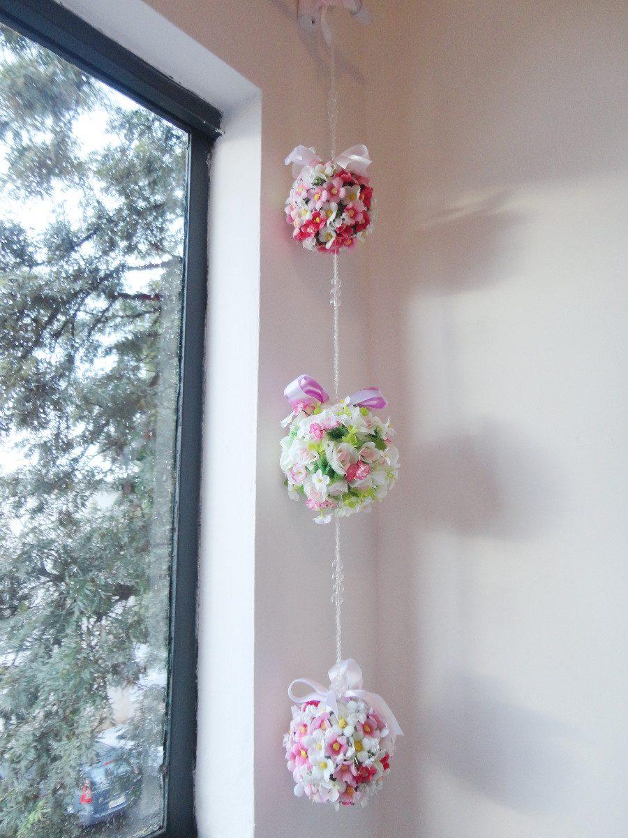 Enfeite De Cortina ~ Móbile Floral Topiaria Enfeite Para Porta, Cortina E Teto R$ 75,00 no MercadoLivre