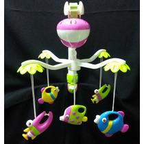 Mobile Musical Giratório Berço Brinquedo Eletrônico De Berço