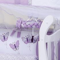 Móbile Lilás Quarto De Bebê Menina Coleção Butterfly