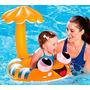 Boia Bebê Nemo Inflável Cobertura Proteç Solar Piscina Praia