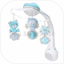 Móbile Smart Com Projetor Luz Musical Para Berço De Bebê