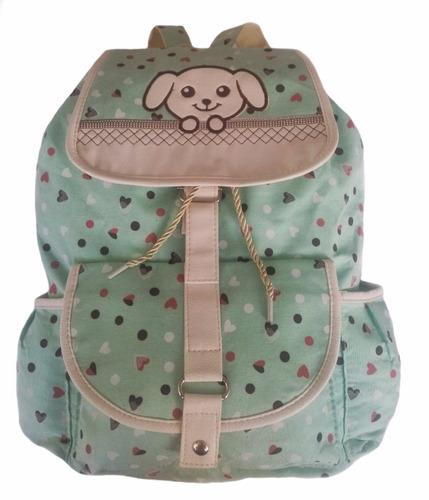 Bolsa De Tecido Infantil : Mochila escolar lona verde infantil bolsa pano tecido r
