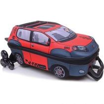 Mochila De Rodinhas Infantil Max Toy Fiat Novo Uno Vermelha-