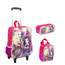 Kit Mochila Ever After High Gde C/ Roda + Lancheira + Estojo