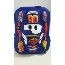 Promoção Mochila Carros Em 3d Azul.