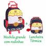 Mochila Toy Story Grande Jessie Rodinhas + Lancheira Kit