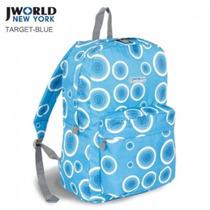 J World - Mochila De Costas - J W -10 Target Blue
