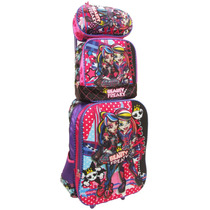 Kit Mochila Escolar Monster High Relevo + Lancheira-estojo