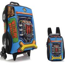 Mochila 3d C/ Rodas Scooby Doo Turbo + Lancheira Maxtoy