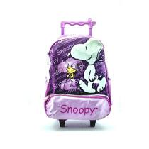 Mochila Snoopy C/ Rodas Que Acendem Roxa Luxcel