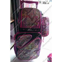 Kit Mochila Infantil De Rodinha Monster High 2016