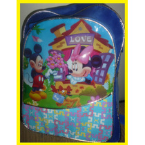 Mochila Escolar Infantil Mickey Mouse E Mine Love 31x23cm