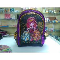 Mochila Monster High Roxo E Dourado- Sestini Original