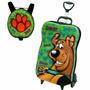 Mochila Escolar Scooby-doo Com Rodinhas + Lancheira