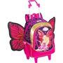 Mochila G Barbie Butter Fly Princesa Fairy Com Rodinhas