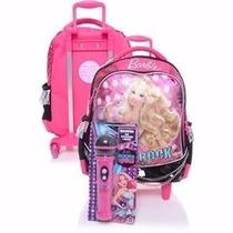 Mochila Barbie Rock Royals Microfone Tam G Rodinha Rosa
