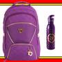 Mochila Escolar Capricho 2016 Love Purple Roxa Kit Garrafa