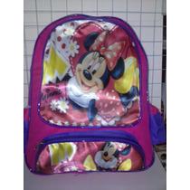 Mochila Escolar Minie Mouse Disney De Costas Entrega Imediat