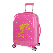 Mochila Mala Rígida Infantil Feminina Barbie 360º Bordo-rosa