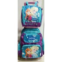 Mochila Frozen 3d Ou Princesas De Rodinhas - Vários Modelos