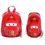 Lancheira Escolar Infantil Carros 3d + Estojo Duplo Dermiwil