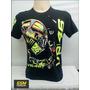 Camiseta The Doctor Valentino Rossi Vr 46 Preta P Ref.028