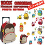 Mala/mochila Rodinha+lancheira+garrafa Skip Hop Zoo Original