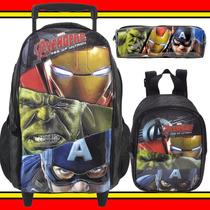 Kit Mochilete Lancheira Avengers Hulk Homem Ferro Capitão Am
