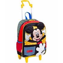Kit Bolsa Lancheira Mochila Estojo Mickey Disney Sestini