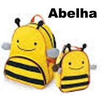 Kit Conjunto Mochila Infantil + Lancheira Skip Abelinha