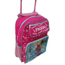 Mochila Escolar Personagen Infantil Com Rodinhas Princesas