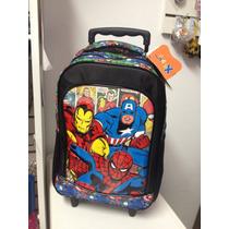 Mochila Infantil Escolar Homem Aranha Marvel Original