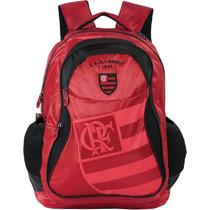 Mochila Escolar Flamengo Vermelha Xeryus 4 Bolsos Grande 375