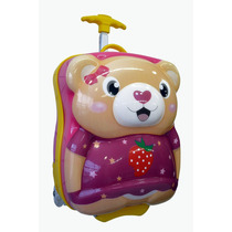 Mochila Carrinho Infantil Escolar - Ursinho