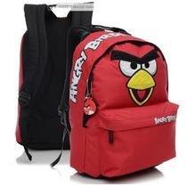 Mochila Escolar Costas Angry Birds - Passarinho Vermelho