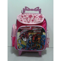 Mochila Escolar Infantil Monster High Rodinhas Peq.