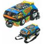 Mochila Infantil C/ Rodinhas 3d + Lancheira Scooby Doo Turbo