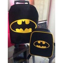 Kit Escolar Mochila E Lancheira Batman Super Heróis!