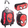 Kit Mochila Rodinhas Homem Aranha - Spider Man 16z Sestini