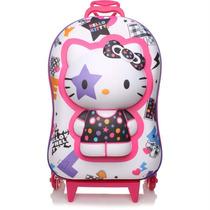 Mochila De Rodinhas Hello Kitty Star 3d - Max Toy Diplomata