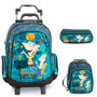 Kit Mochila Phineas And Ferb C/ Roda + Lancheira + Estojo
