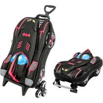 Mochila Escolar Mochilete 3d Batman + Lancheira