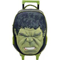 Mochila De Rodinhas Vingadores Faces Hulk 5470 - Catmania