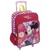 Mochila Escolar Minnie Rodinhas Turma Do Mickey - Sestini