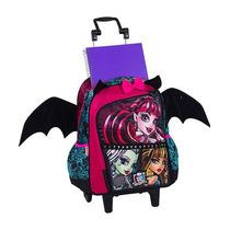 Mochilete Escolar Monter High Rodinha Alça E Asas De Morcego