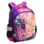 Mochila Barbie Rock Roxa( G ) Microfone Brinquedo Emite Som