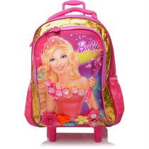 Mochila Escolar Barbie Portal Secreto C/ Rodinhas Sestini -g